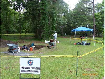 Excavations at Fort Raleigh National Historic Site